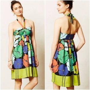 Anthropologie James Coviello Pavot Halter Dress